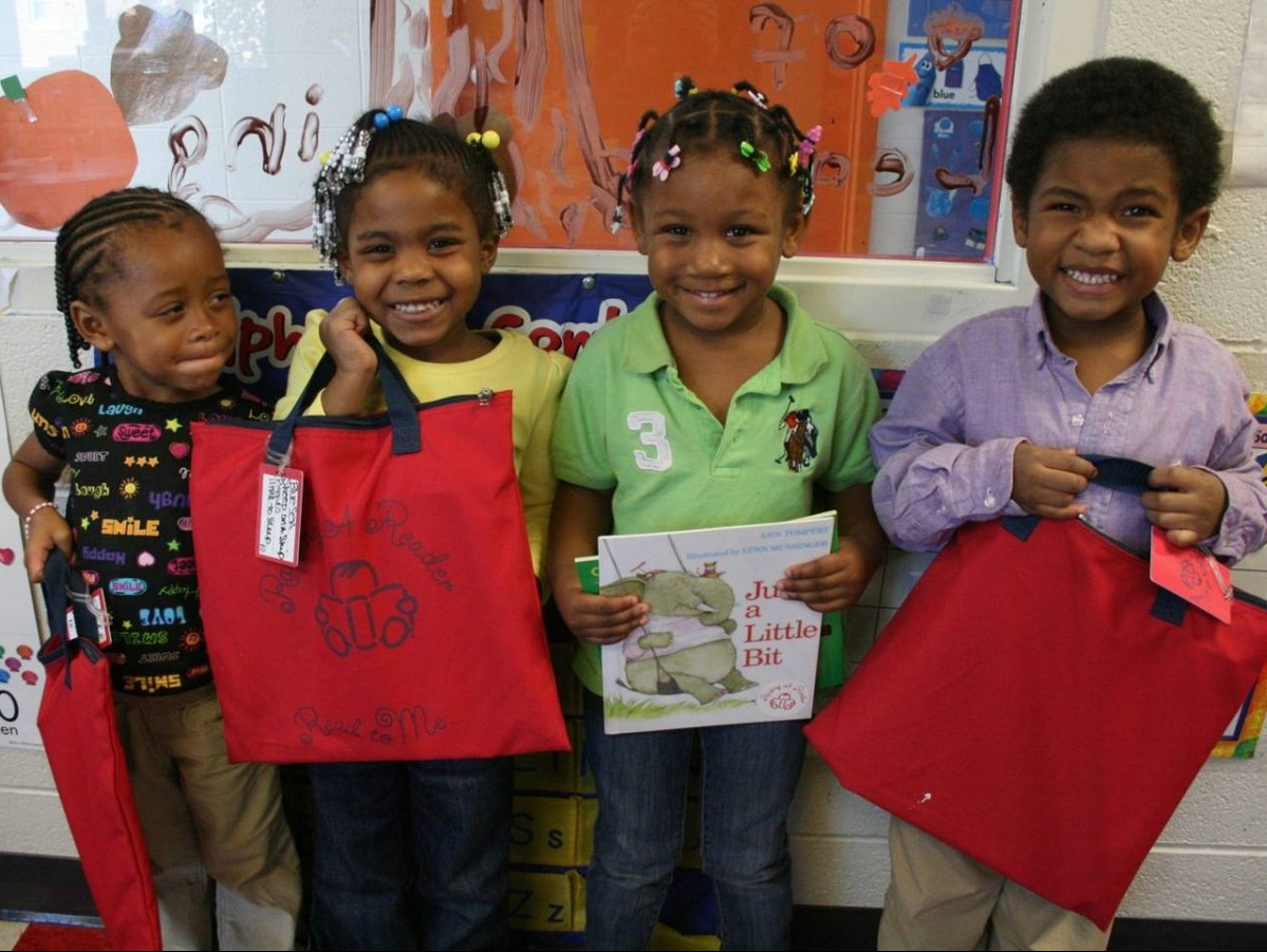 Kids with RAR Red Bags
